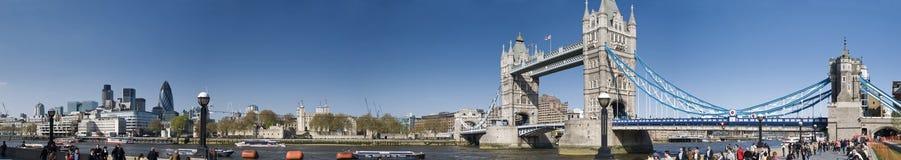 Het REUSACHTIGE Panorama van Cantral Londen Stock Afbeeldingen