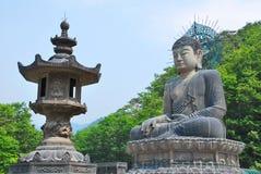 Het reusachtige standbeeld van Boedha stock afbeeldingen