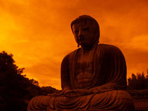 Het reuze standbeeld van Boedha Stock Foto