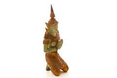 Het reuze Thaise stijlstandbeeld bidden Stock Foto