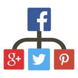 Het reuzenetwerk van Facebook Royalty-vrije Stock Fotografie