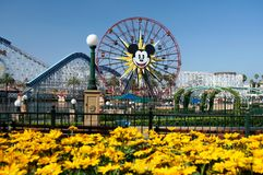 Het Reuzenrad Disneyland van Mickey Mouse Stock Afbeeldingen