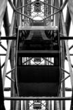 Het Reuzenrad van de cabineaantrekkelijkheid in het Park royalty-vrije stock foto