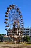 Het reuzenrad werkt niet in Ochamchira Royalty-vrije Stock Foto's