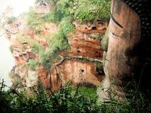 Het reuzestandbeeld Leshan, China van Boedha stock afbeeldingen