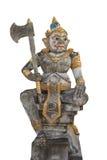 Het reuzestandbeeld wordt gevestigd voor de pagode thailand Royalty-vrije Stock Afbeeldingen