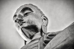 Het reuzestandbeeld Zwart-wit Thailand van Boedha, Royalty-vrije Stock Fotografie