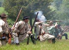 Het revolutionaire oorlogsweer invoeren royalty-vrije stock afbeeldingen