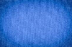 Het ribfluweel polipropylen blauwe realistische achtergrondbehangtextuur Royalty-vrije Stock Fotografie