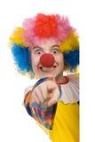 Het richten van de clown Stock Fotografie
