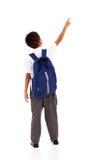 Het richten van de schooljongen Stock Fotografie