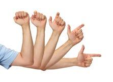 Het Richten van de vinger Royalty-vrije Stock Afbeelding