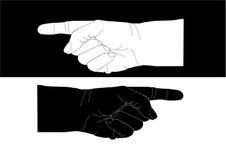 Het richten van handen Stock Foto's