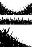 Het richten van menigten stock illustratie