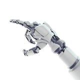 Het richten van robotachtig wapen Royalty-vrije Stock Foto's