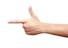 Het richten van vinger Royalty-vrije Stock Afbeelding