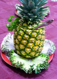 Het richten zich - ananasclose-up Royalty-vrije Stock Afbeelding