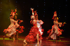 Het ridderlijkheid-Spaanse stieregevecht de dans-de werelddans van Oostenrijk Royalty-vrije Stock Afbeeldingen
