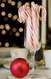 Het riet en de ornamenten van het suikergoed Royalty-vrije Stock Fotografie