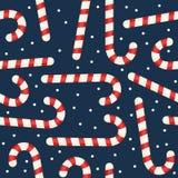 Het riet naadloos patroon van het Kerstmissuikergoed Stock Foto