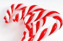 Het Riet van het Suikergoed van Kerstmis Royalty-vrije Stock Foto