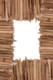 Het rietframe van het bamboe Royalty-vrije Stock Foto's