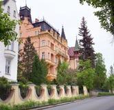 Het rijke herenhuis in Karlovy varieert Stock Afbeeldingen