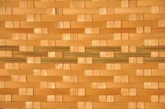 Het rijs van de mand is Thaise met de hand gemaakt het is geweven bamboetextuur voor achtergrond en ontwerp Traditionele Thaise g Stock Fotografie