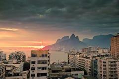 Het Rio de Janeiro Brazilië van Ipanema stock afbeeldingen