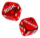 Het risico en de beloning dobbelen royalty-vrije illustratie