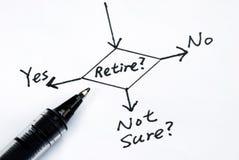 Het risico om de pensionering te nemen Royalty-vrije Stock Foto