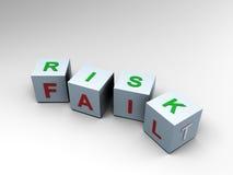 Het risico of ontbreekt? Twee 3D kanten - Stock Foto