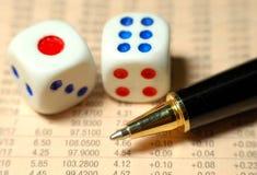 Het Risico van de Effectenbeurs Stock Fotografie