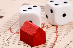 Het Risico van de Immobiliënmarkt Royalty-vrije Stock Fotografie
