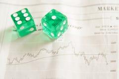 Het risico van de investering Stock Afbeelding