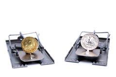 Het risico van de munt Royalty-vrije Stock Afbeeldingen
