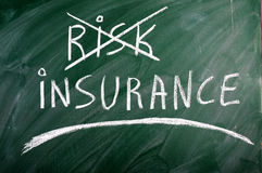 Het risico van de verzekering Royalty-vrije Stock Fotografie
