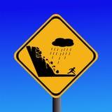 Het risico van de waarschuwing van grondverschuiving vector illustratie
