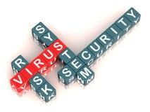 Het risico van het virus stock illustratie