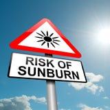 Het risicoconcept van de zonnebrand. Stock Fotografie