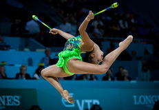 Het ritmische Kampioenschap van de Gymnastiekwereld Stock Foto