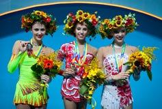 Het ritmische Kampioenschap van de Gymnastiekwereld Stock Foto's