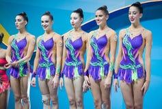 Het ritmische Kampioenschap van de Gymnastiekwereld Royalty-vrije Stock Fotografie