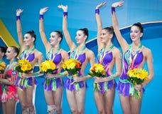 Het ritmische Kampioenschap van de Gymnastiekwereld Royalty-vrije Stock Foto