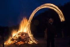 Het ritueel van de Zagoveznibrand Stock Fotografie