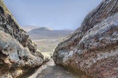 Het rivierbed van de lava Royalty-vrije Stock Fotografie
