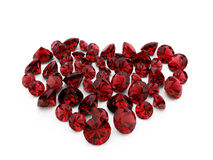 Het robijnrode hart van de diamant vector illustratie