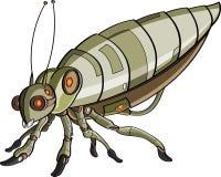 Het robotachtige insect van het beeldverhaal Stock Foto's
