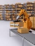 Het robotachtige palletiseren Stock Fotografie