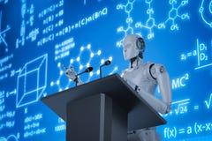 Het robotachtige sprekersonderwijs royalty-vrije illustratie